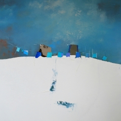 100x100cm Rhapsodie in blue (Atelier)