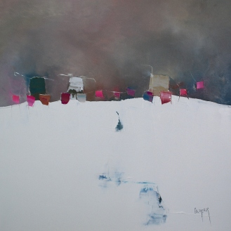 50x50cm Petit matin du silence (Atelier)