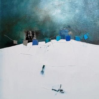 50x50cm Bleu glacier (Galerie Emotion Plurielle La Baule)