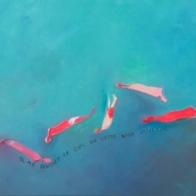 La nuit ouverte , huile sur toile 45x32cm, 2016 @ Nathalie Leverger