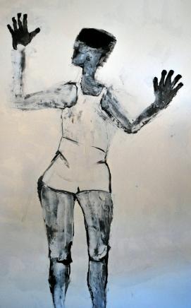 le-rideau-huile-et-encre-sur-papier-195x140cm-2011