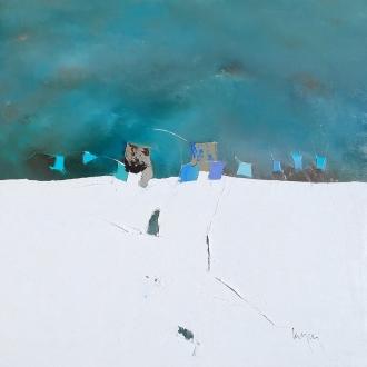 80x80cm Vers l'été (Galerie Emotion Plurielle La Baule)
