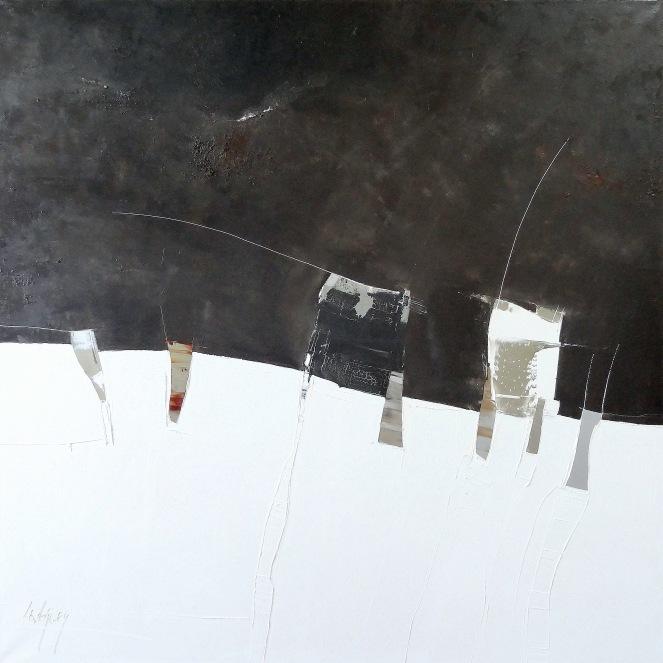 120x120cm Mont Blanc (Atelier)