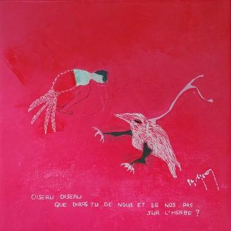 Avec des mots du recueil Les Oiseaux de Paule Elisabeth Oddéro