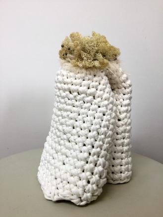 Blanc d'hiver , sculpture textile @NathalieLeverger 2016