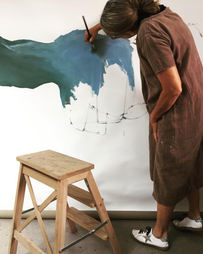 Vue d'atelier pour un 160x200cm / Fond pour une peinture sérieOuessant