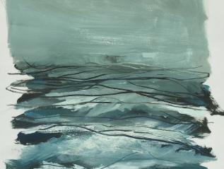 Ocean, huiles sur papier 30x40cm / recherchesactuelles
