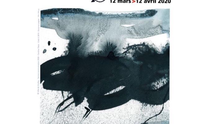 Brouillard sur le Rhône , 32x32cm,2020